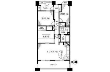 元住吉パーク・ホームズ マスターズコート 6階 3LDK 賃貸マンション