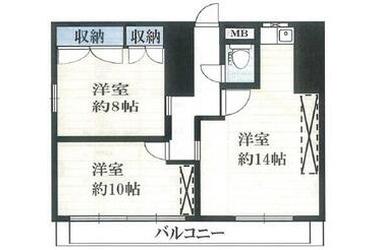 新宿 徒歩12分 12階 3K 賃貸マンション