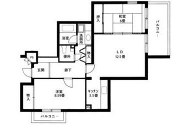 落合2189番館 1階 2LDK 賃貸マンション
