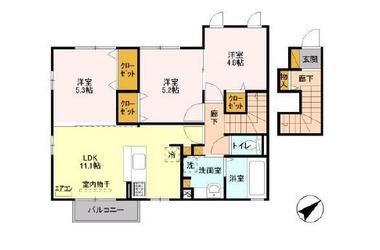 フォリウム-T 2階 3LDK 賃貸アパート