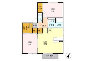五香 徒歩15分 2階 2LDK 賃貸アパート