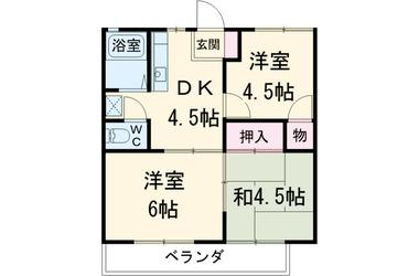 和田河原 徒歩8分 2階 3DK 賃貸アパート