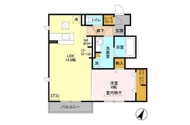 逆井 徒歩37分 1階 1LDK 賃貸アパート