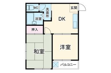 ベイサイドミヨシシバ 2階 2DK 賃貸アパート