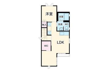 山手 徒歩10分 2階 1LDK 賃貸アパート