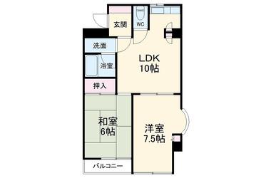 反町 徒歩18分 4階 2LDK 賃貸マンション