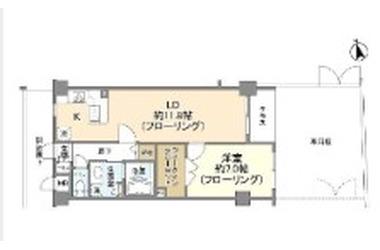 富士見ヶ丘 徒歩12分 1階 1LDK 賃貸マンション