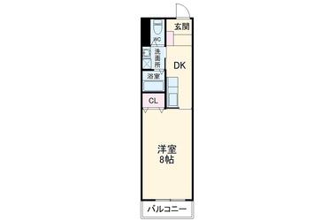 サンロード岡本 2階 1R 賃貸マンション
