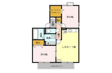 千葉寺 バス15分 停歩34分 2階 2LDK 賃貸アパート