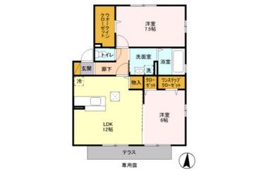 都賀 徒歩30分 1階 2LDK 賃貸アパート