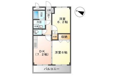 上総村上 徒歩19分 2階 2DK 賃貸アパート