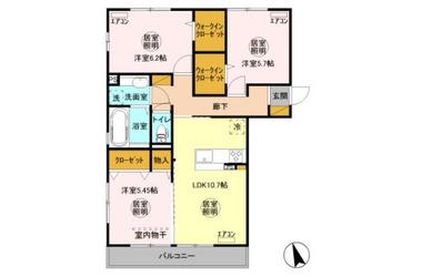 祇園 徒歩21分 2階 3LDK 賃貸アパート