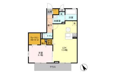 エスペランサA 1階 1LDK 賃貸アパート