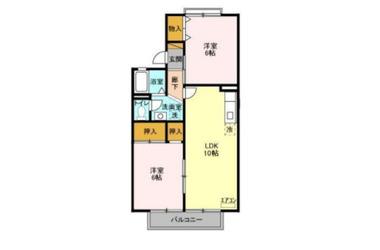 グリーンアベニュー 2階 2LDK 賃貸アパート