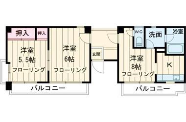 荻窪 徒歩10分 3階 2DK 賃貸アパート