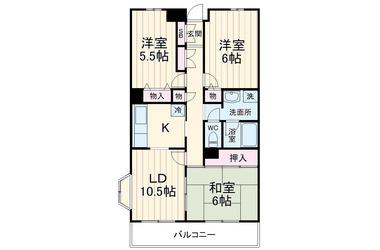 千葉寺 徒歩16分 1階 3LDK 賃貸マンション
