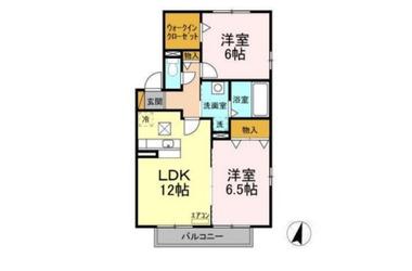 千葉寺 徒歩16分 1階 2LDK 賃貸アパート