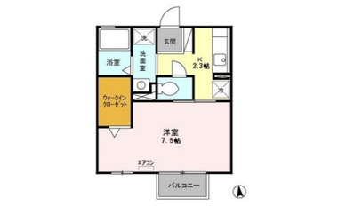 本納 徒歩10分 2階 1K 賃貸アパート