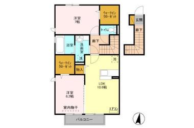 祇園 バス10分 停歩20分 2階 2LDK 賃貸アパート