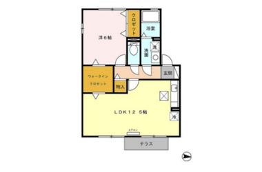 カンパーニュ C 1階 1LDK 賃貸アパート