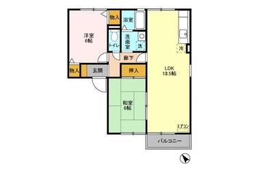 グリーンシンフォニー 2階 2LDK 賃貸アパート