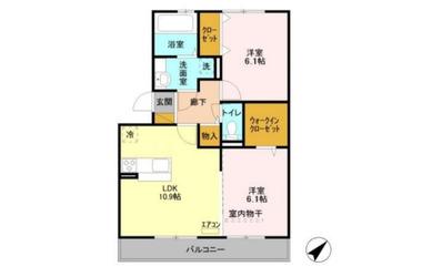 五井 徒歩18分 3階 2LDK 賃貸アパート