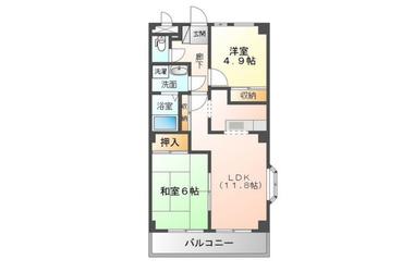 アネックスウィン 5階 2LDK 賃貸マンション