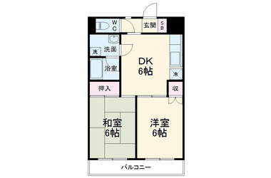 矢野口 徒歩14分 3階 2DK 賃貸マンション