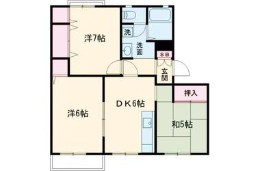 上北台 徒歩7分 2階 3DK 賃貸アパート