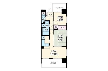 ライオンズステーションプラザ相模大野 12階 2LDK 賃貸マンション