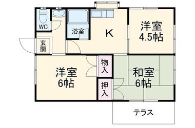 北藤岡 徒歩77分 1-1階 3R 賃貸一戸建て