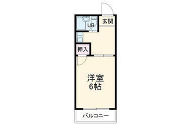 三条 徒歩18分2階1K 賃貸マンション