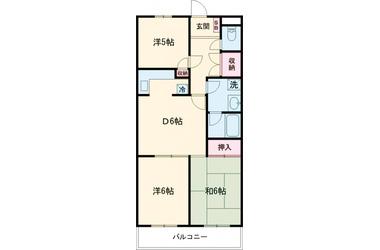 東伏見 徒歩17分 1階 3DK 賃貸マンション