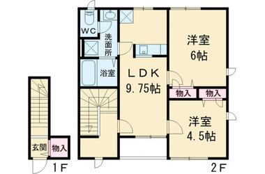 北府中 徒歩11分 1階 2LDK 賃貸アパート