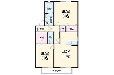 生田 徒歩9分 1階 2LDK 賃貸アパート
