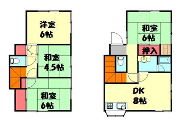 高根木戸 徒歩20分 1-2階 4DK 賃貸一戸建て