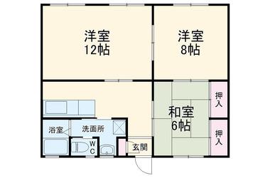 醍醐マンション 1階 3K 賃貸マンション