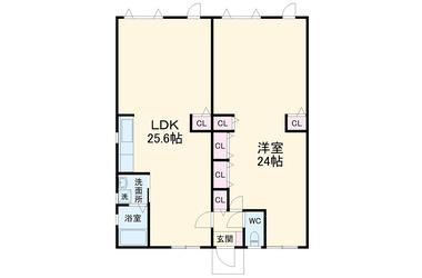 プレジデント衣笠栄町 1階 1LDK 賃貸マンション