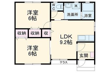世良田 徒歩26分 1階 2LDK 賃貸一戸建て