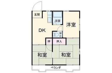 松本ハウス 1階 3DK 賃貸アパート