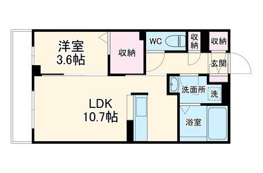 ウイングガーデンA棟 3階 1LDK 賃貸アパート