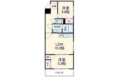 千葉寺 徒歩9分 1階 2LDK 賃貸マンション