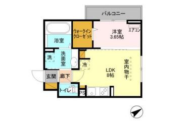 カナミオン 3階 1LDK 賃貸マンション