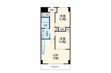 グリュック 4階 2LDK 賃貸マンション