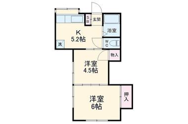 逸見 徒歩5分 1階 2R 賃貸アパート