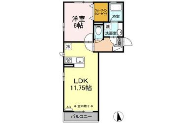 剛志 徒歩47分 3階 1LDK 賃貸アパート