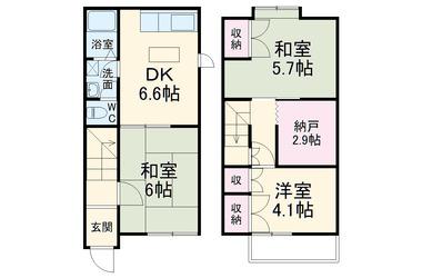 京急田浦 徒歩8分 1階 3SDK 賃貸一戸建て