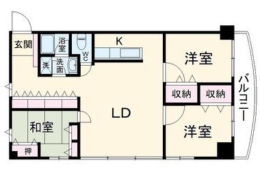 リブポート習志野 2階 3LDK 賃貸マンション