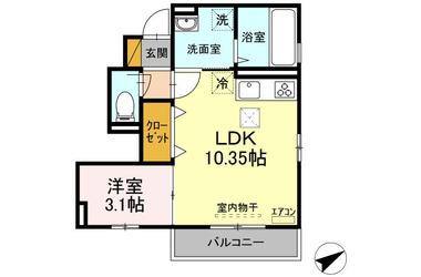 ピースフルコート 1階 1LDK 賃貸アパート