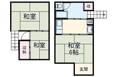 南太田 徒歩12分 1階 3DK 賃貸アパート